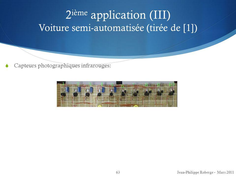 2ième application (III) Voiture semi-automatisée (tirée de [1])